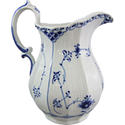 Royal Copenhagen  Blue Fluted Half Lace Jug 646 Pitcher