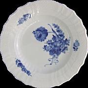 Royal Copenhagen Porcelain Denmark Blue Flowers Curved Dinner Plate 1 106 624