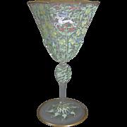 Venetian Murano Enameled Wine Glass