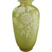 Thomas Webb & Sons English Cameo Glass Vase
