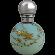 Antique English Satin Glass Globular Scent Bottle Jules Barbe Decoration