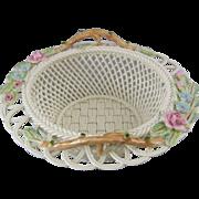 Belleek Summer Garden Woven Porcelain Annual Basket 2002