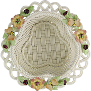 Belleek Fine Parian China Honeysuckle Basket 2737