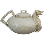 Belleek Fine Parian China Chinese Dragon Tea Pot