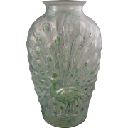 The Hocking Glass Co. Peacock Vase 196 -1/2a3
