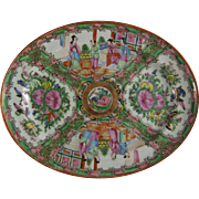 Chinese Export Porcelain Rose Medallion Oval Platter