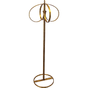 """Mid Century Hollywood Regency 48"""" Gilt Wrought Iron Towel stand"""