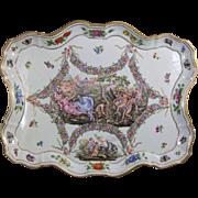 Antique Capodimonte Porcelain Allegorical Tray