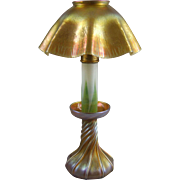Antique Tiffany Fravrile Candle Stick Lamp
