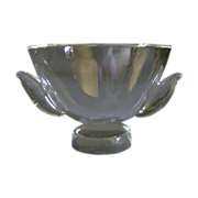 Steuben Pedestal Bowl SP840 with Applied Wings  Designed by Jeanne Leach 1952