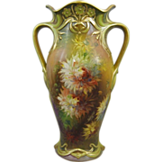 REDUCED Royal Bonn Art Nouveau Hand Painted Vase M. Dirkmann