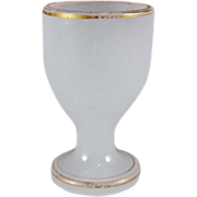 REDUCED Antique French Opaline Glass Egg Cup