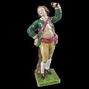 Porcelain Figure of an Eighteenth Century Provincial Dancing Man