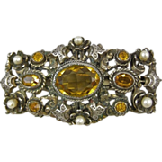 REDUCED Leo Glass New York Austro-Hungarian Design Brooch