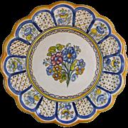Talabricense Talavera Polychrome Earthenware Ceramic Wall Charger