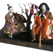 Japanese 1930s 'Tableau Doll' Ningyo  Noh Kabuki Theatre Theater  Showa