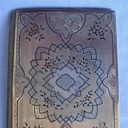 Victorian French Silver Inlaid Card Case