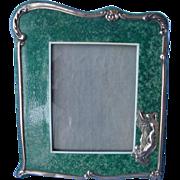Art Nouveau Shagreen/Silver Photo-Frame