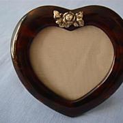 Tortoiseshell Heart-Shaped Photo Frame