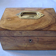 Victorian Olive Wood Jewellery Casket