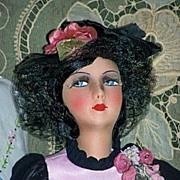 "French Silk Face Boudoir Doll High Color, 28"""