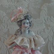 "Deco Pink Half Doll Lamp 12"""