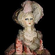 "40"" Fashion French Boudoir Doll, RARE 1920 Marie Antoinette"