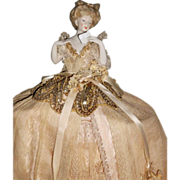 Deco Schneider Lady With Love Letter Half Doll Lamp