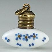 c.1900 Miniature Porcelain Scent Perfume Bottle #3
