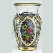 1920s Hermann Pautsch Haida Enamelled Glass Vase