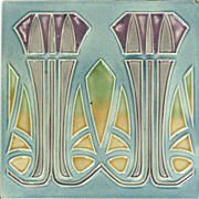 c.1905 MO&PF German Art Nouveau Tile