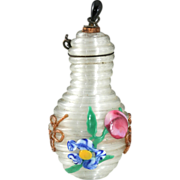 C.1890 Miniature Venetian Coil Glass Scent Perfume Bottle