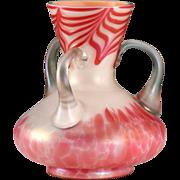 c.1905 Pallme König Konig Cased Vaseline Uranium Glass Vase