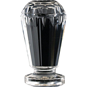 c.1890 Cut Crystal Seal With Engraved Coat Of Arms & Motto