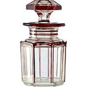 c.1900 German Flashed Ruby Glass Dressing Table Scent Perfume Bottle #2