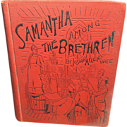 SALE Wonderful Old Book 'Samantha Among The Brethren' by Josiah Allen's Wife - 1890 - Funk &am