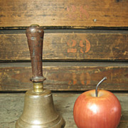 REDUCED Sweet Old Small Sized One Room School House Bell