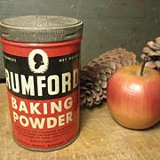 Old Vintage Rumford Baking Powder Advertising Tin – Rhode Island
