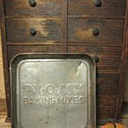 SALE Small Old Advertising Tin 'PY-O-MY' Baking Mixes' Kitchenware Pan