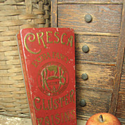 REDUCED Very Unusual Old CRESCA Cluster Raisins Advertising Tin – France, Spain, New York â€
