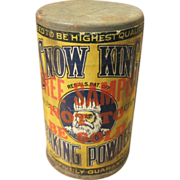 SALE Early Old Little Trial Size Free Sample SNOW KING Baking Powder Tin – Paper ...