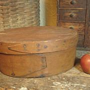 SOLD Great Grandma's Favorite Early Old Primitive Antique Farmhouse Kitchen Wooden Large Ova