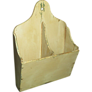 SOLD Sweet and Simple Old Divided Handmade Wooden Wall Candle Box - Old Paint