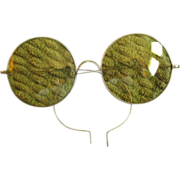 SOLD Early Old Round Tinted Wire 'John Lennon' Glasses