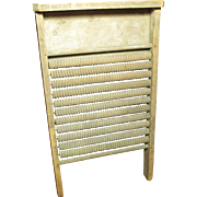Awesome Early Old Wooden Patented MOTHER HUBBARD Washboard - Mendota, IL - 1920