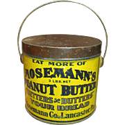 SOLD Awesome Early Old Antique MOSEMANN'S Peanut Butter Tin Pail - 3 Lbs. Size - Lancaster, PA