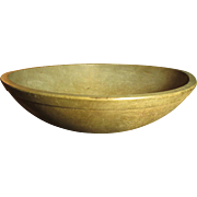 Grandma's Favorite Early Old Farm Kitchen Turned Wooden Dough Bowl