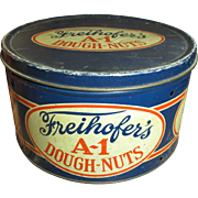 SALE Granny's Old Farm Kitchen FREIHOFER'S A-1 Dough-Nuts Advertising Tin
