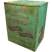 Early Old John Sexton & Co. Tea Tin - Great Advertising Graphics - Chicago