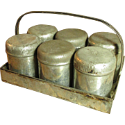 Granny's Sweet and Simple Six Tin Spice Set w. Carrier